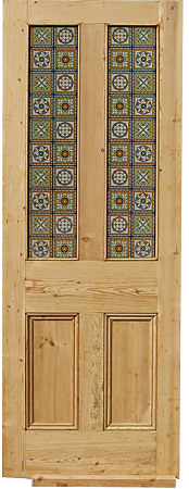 Victorian Style Glazed Door In Top 2 Panels Door 00012
