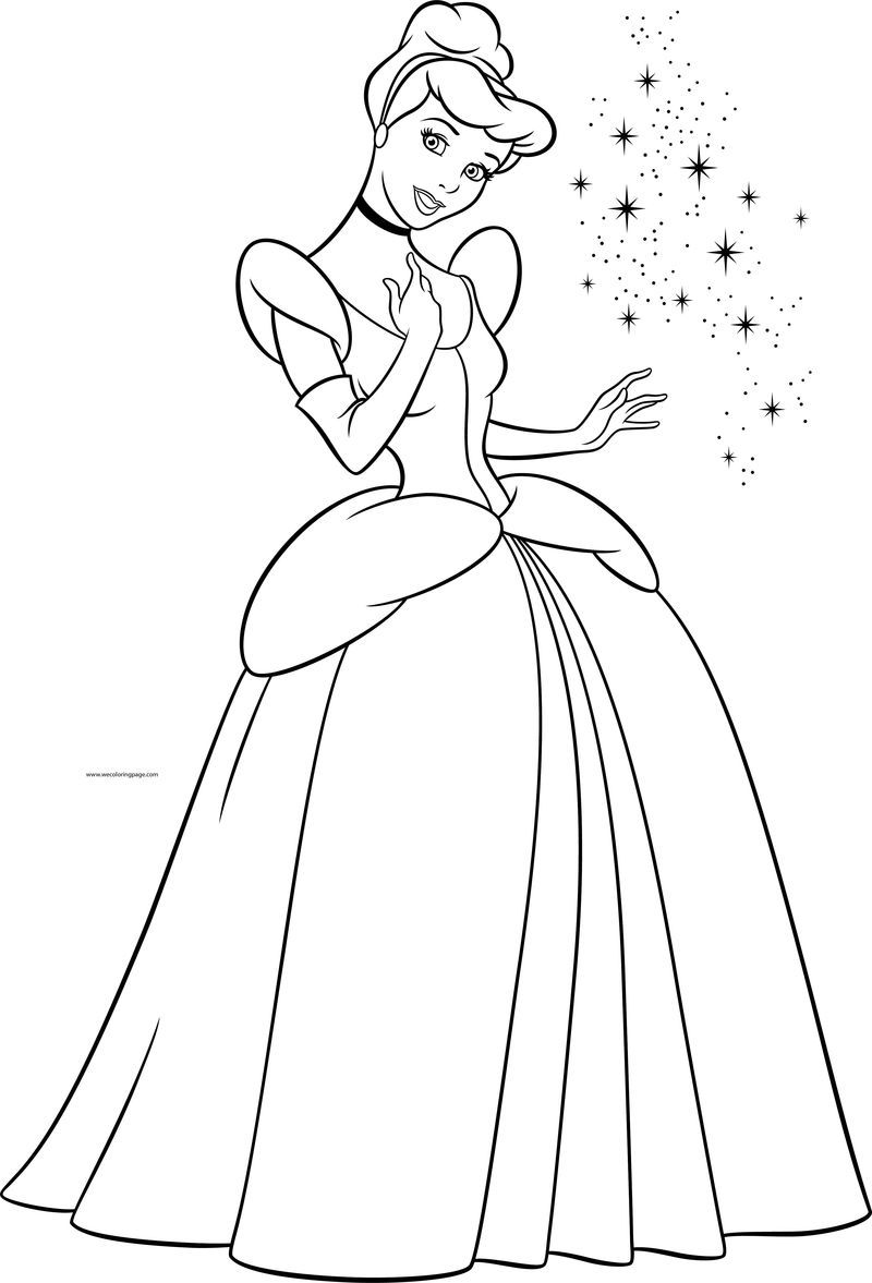Disney Cinderella Princess Coloring Page In 2020 Disney Princess Coloring Pages Cinderella Coloring Pages Princess Coloring Pages