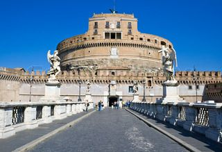 Famous Saint Angel's Castle in Rome, Italy