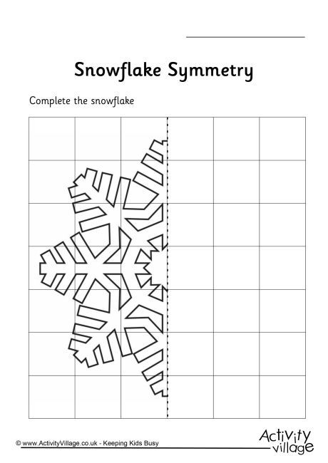 Drawing Lines Of Symmetry Worksheets Ks : Snowflake symmetry worksheet inspiration pinterest