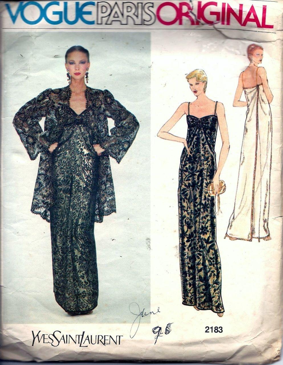 Vintage Pattern Emporium - Vintage 70s Vogue Paris Original Yves ...