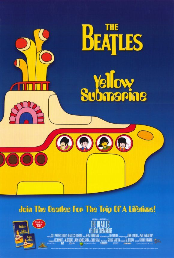 Beatles Posters Yellow Submarine Album Yellow Submarine