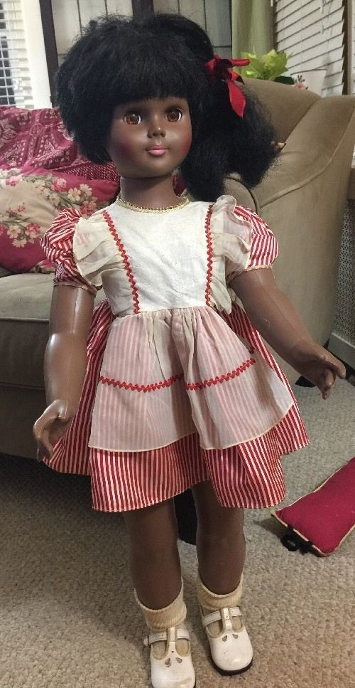 Vintage Rare 31 African American Black Doll By Uneeda Doll Co 3176 16 Uneedadollcompany Black Doll Vintage Dolls Collectible Dolls