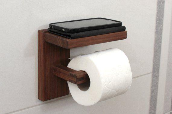 45cm Long Wooden Toilet Towel Roll Tissue Paper Holder Stand Rack