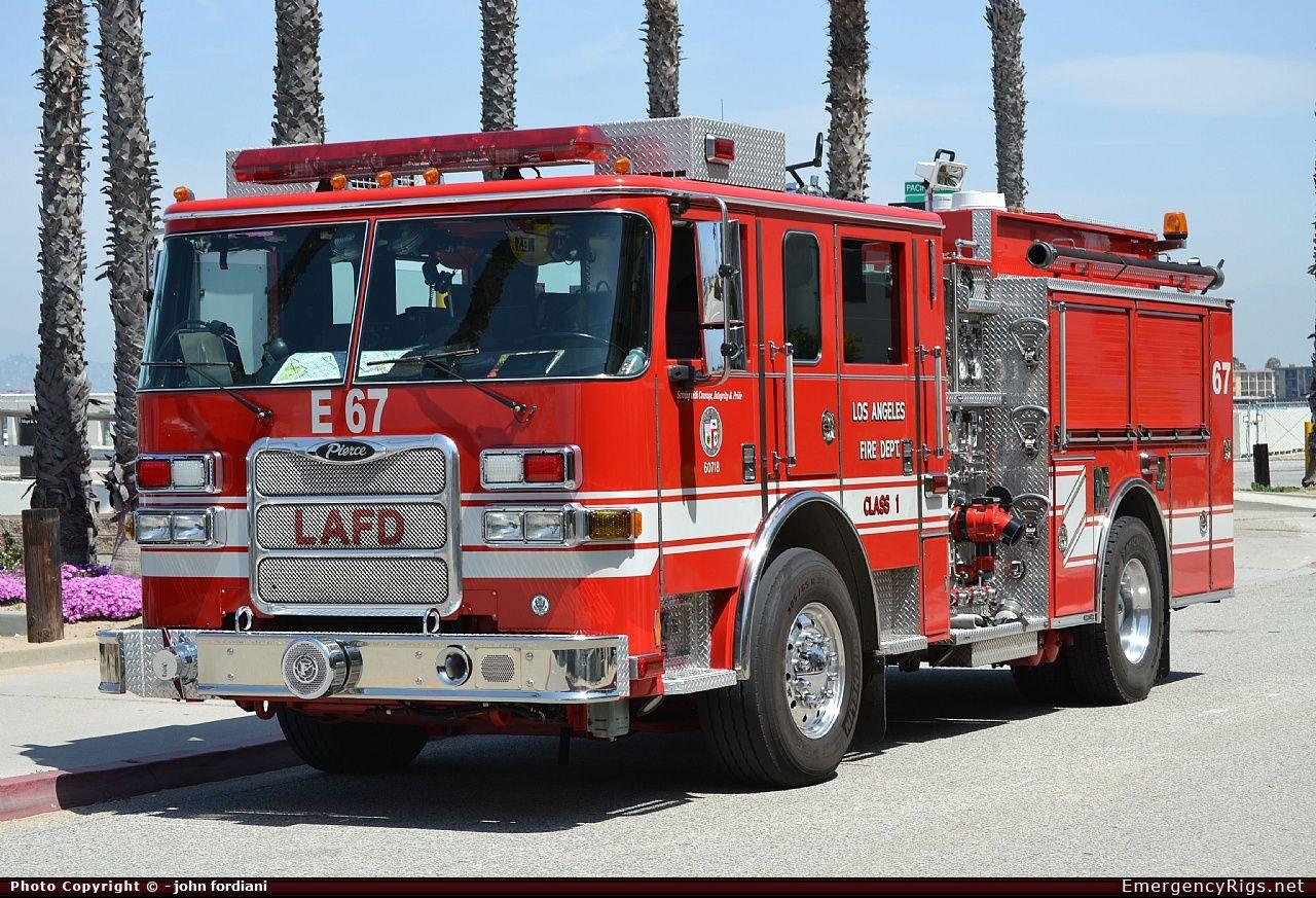 Pierce Arrow Xt Pumper Los Angeles Fire Department Emergency Apparatus Fire Truck Photo Fire Trucks Fire Department Fire Rescue