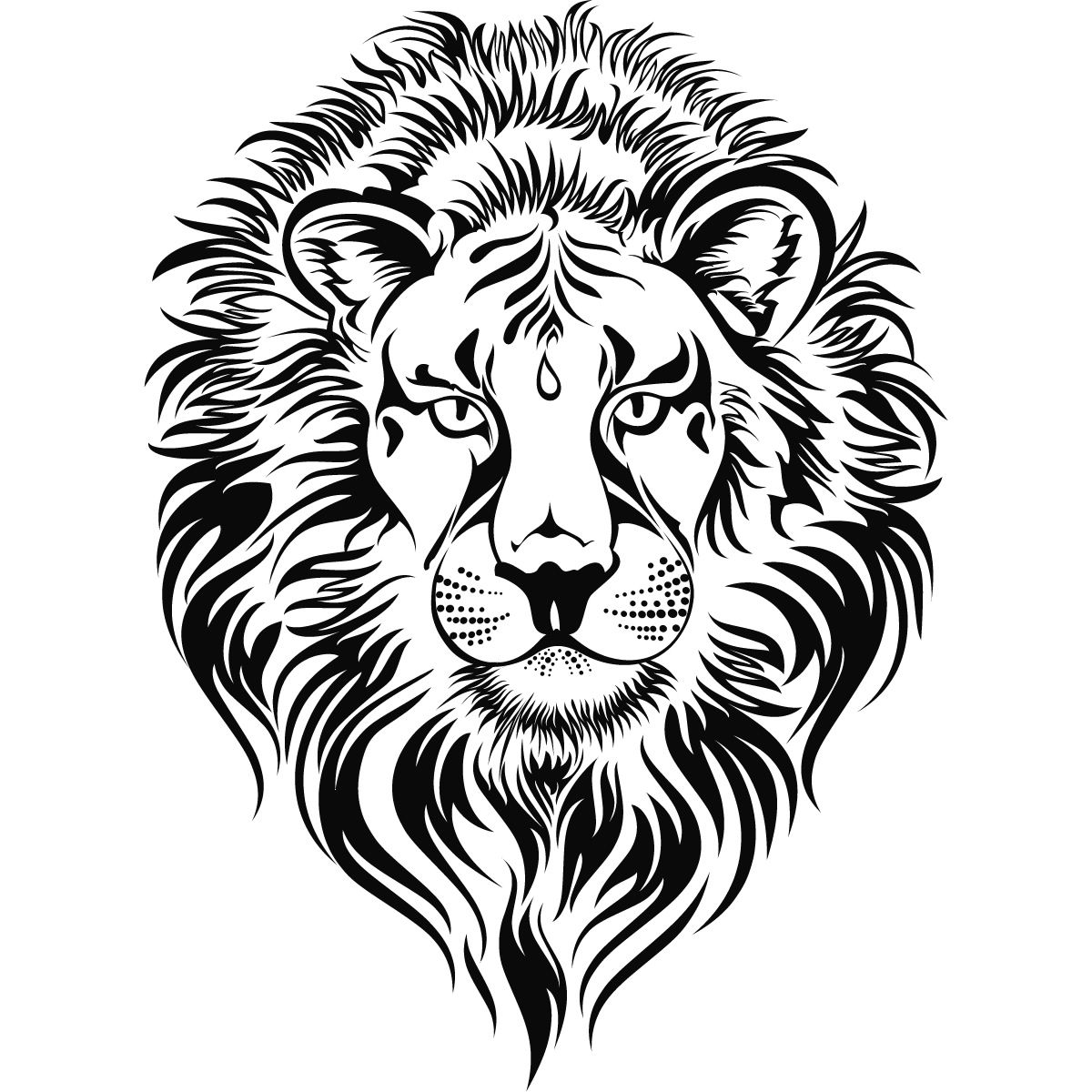 Line Drawing Lion Head : Roaring lion head clip art clipart panda free