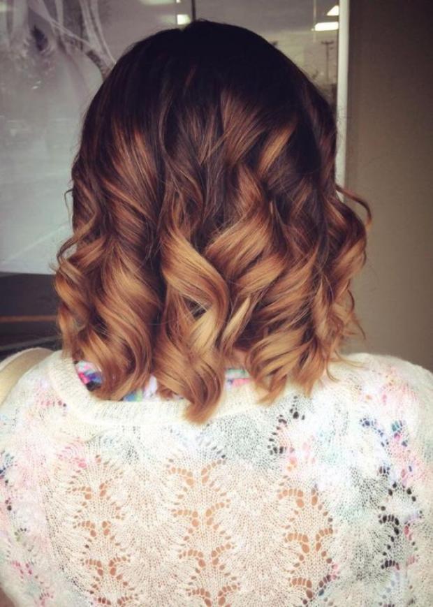 Coloration ombre cheveux court