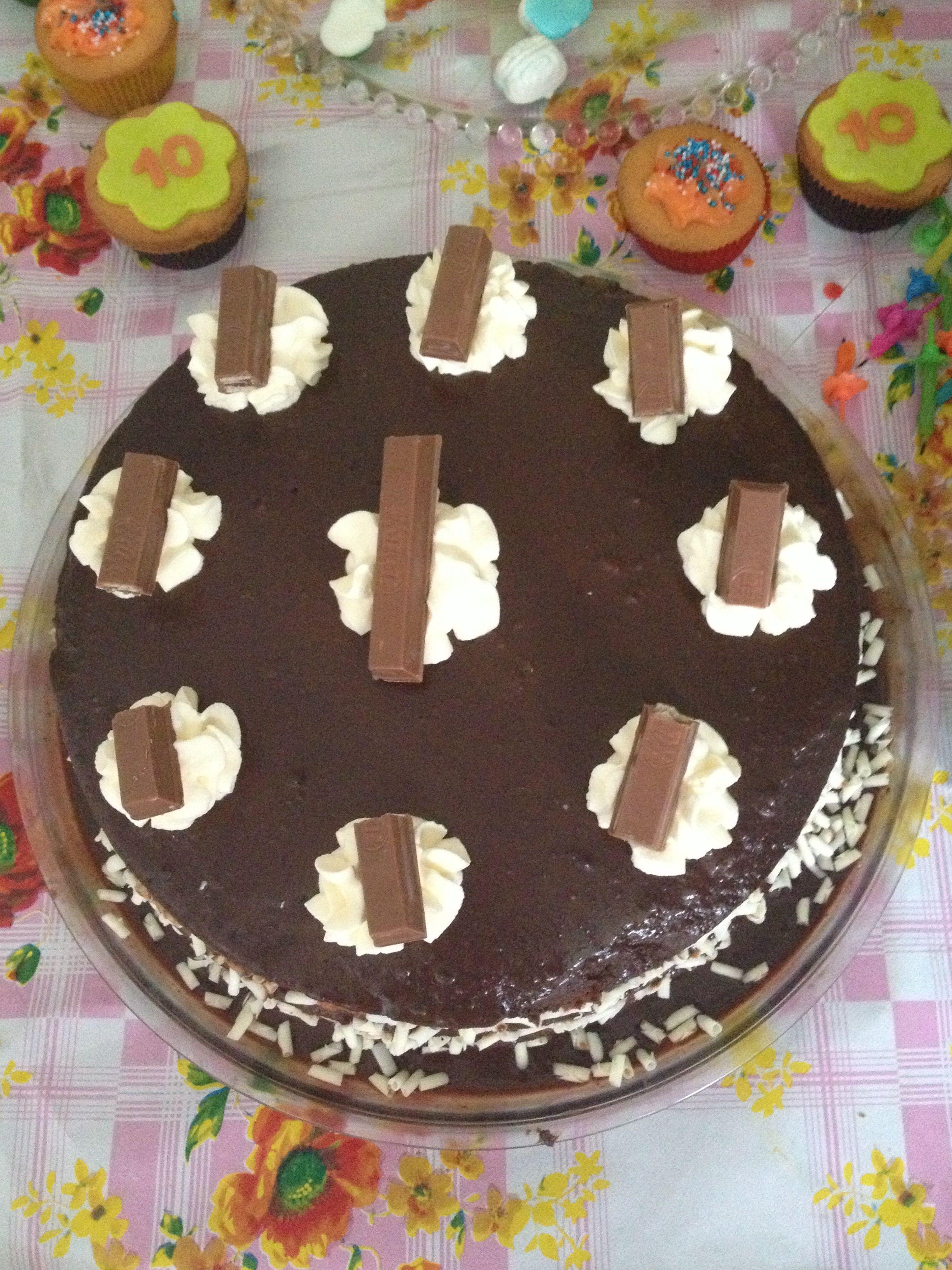 Chocoladetaart met hemelse modder
