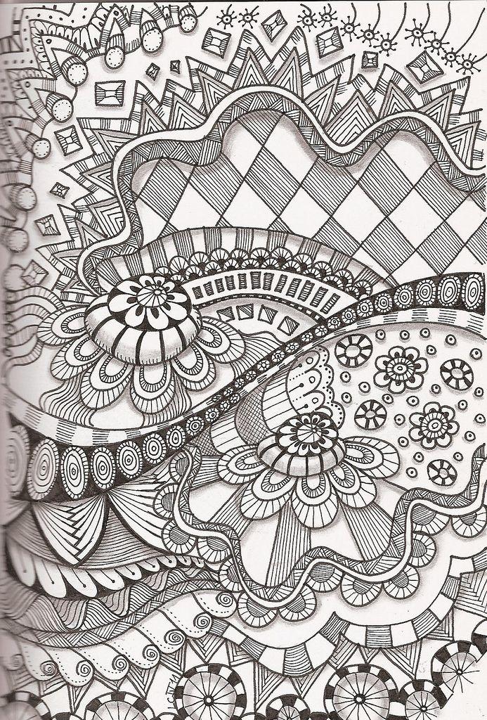 Tangle 35 Zentangle Patterns Zentangle Designs Tangle Art