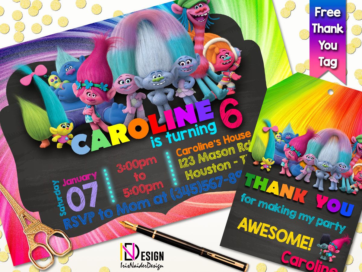 Sale 15 off trolls invitation trolls party trolls invites sale 15 off trolls invitation trolls party trolls invites trolls thank you monicamarmolfo Images