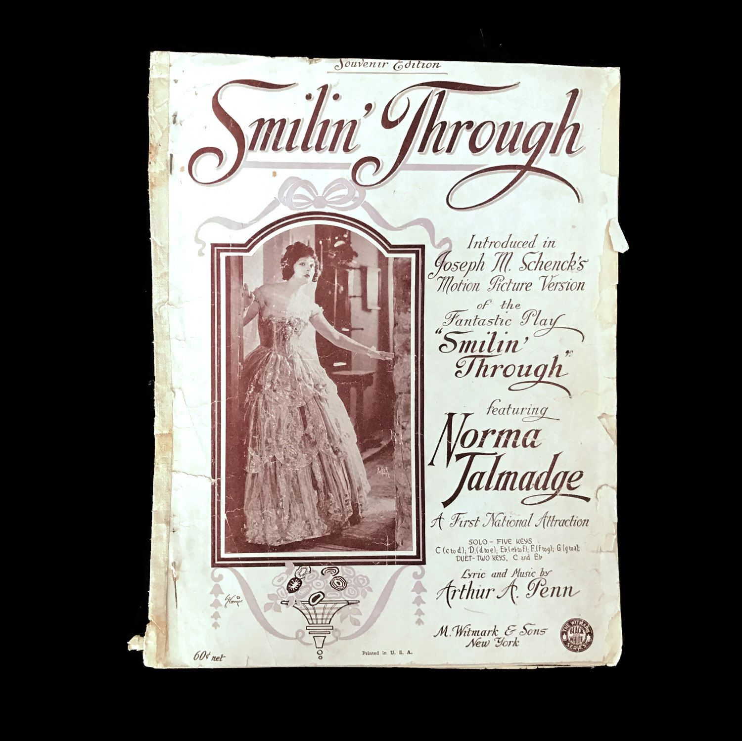 Vintage Sheet Music Smilin Through S Love Songs
