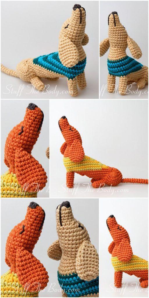 DIY Crochet Amigurumi Puppy Dog Stuffed Toy Free Patterns | Crochê ... | 1024x512