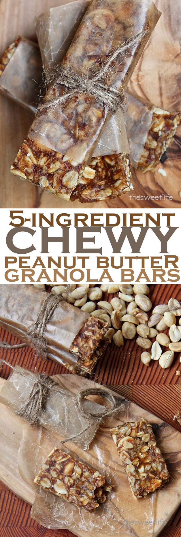 These vegan Chewy Peanut Butter Granola bars can be thrown together in minutes and make the perfect snack for yourself and your kids. Click the photo for the full recipe.
