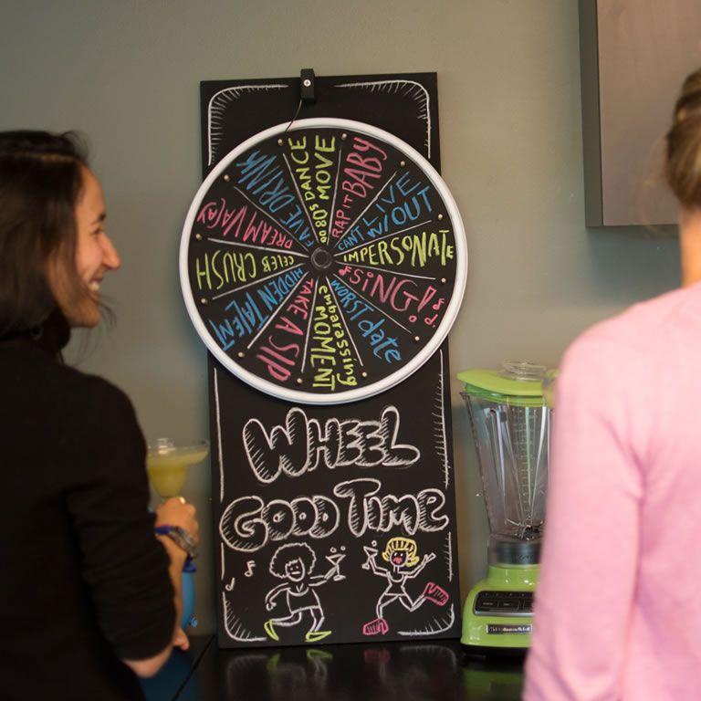Make A Make Your Own Game Wheel Bacardi Mixers Diy Party Planning Diy Party Planning Make Your Own Game Diy Spinning Wheel
