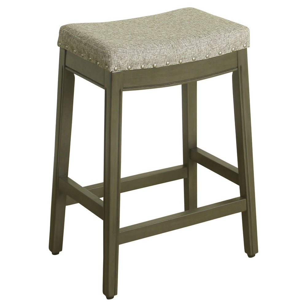 Blake 24 Backless Counter Stool With Nailheads Blue Graphite