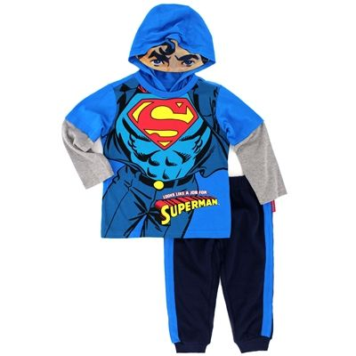 Baby Kid Boy Superhero Top+Pants Pullover Hoodie T-Shirt Outfit Clothes Set Suit
