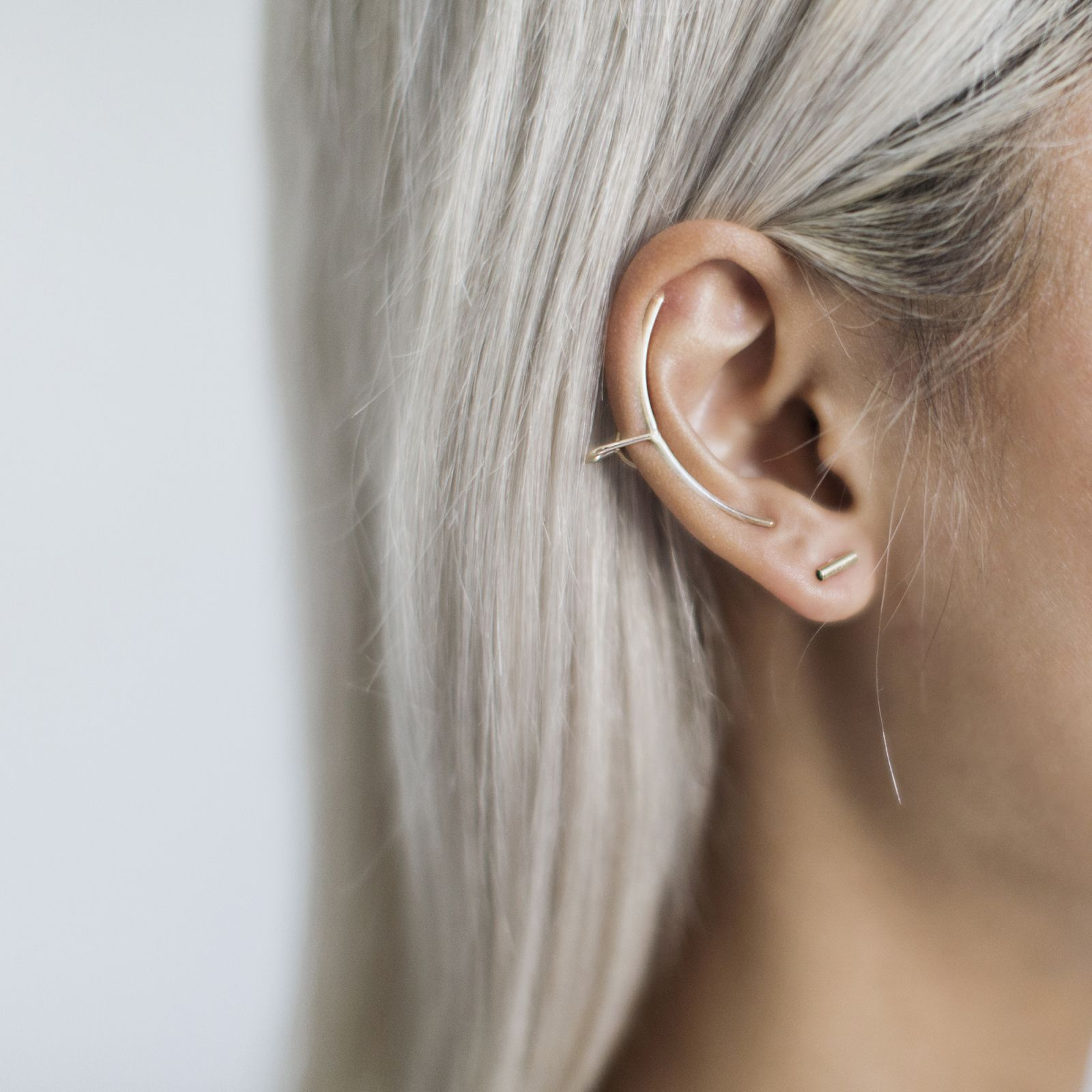 super delicate micro 'strip' earrings that are barely-there