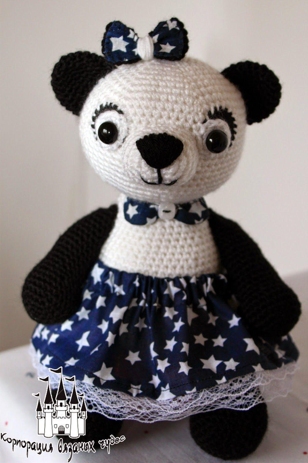 Ami-Domi Land: вяжем амигуруми: Вязаная панда | Надо попробовать ...