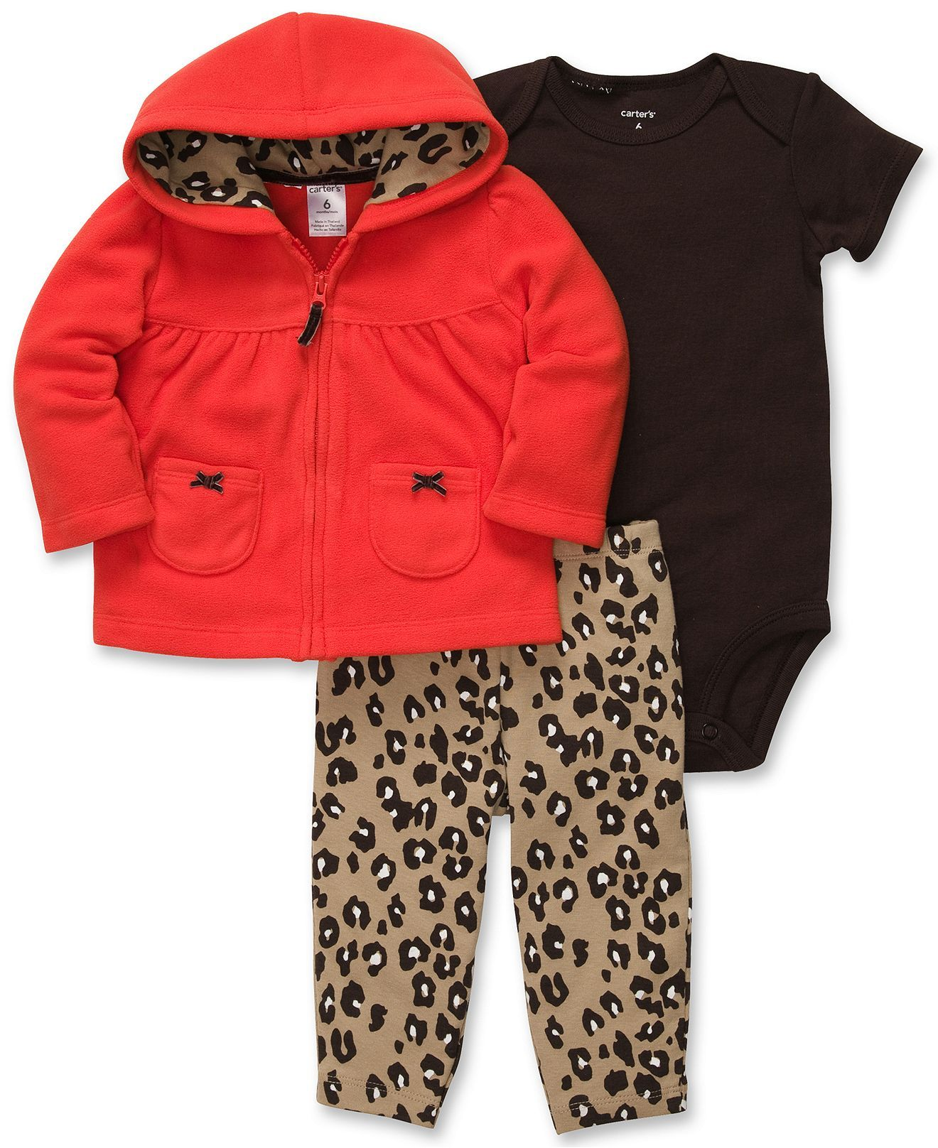 Carter's Baby Set, Baby Girls 3-Piece Cardigan, Bodysuit and Pants ...