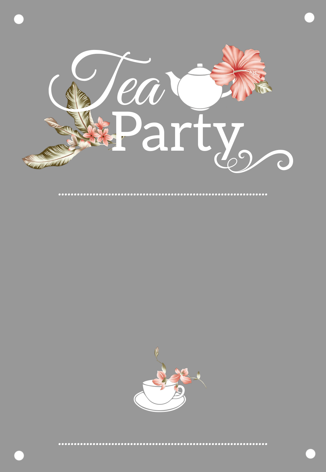 Bridal Shower Tea Party Free Printable
