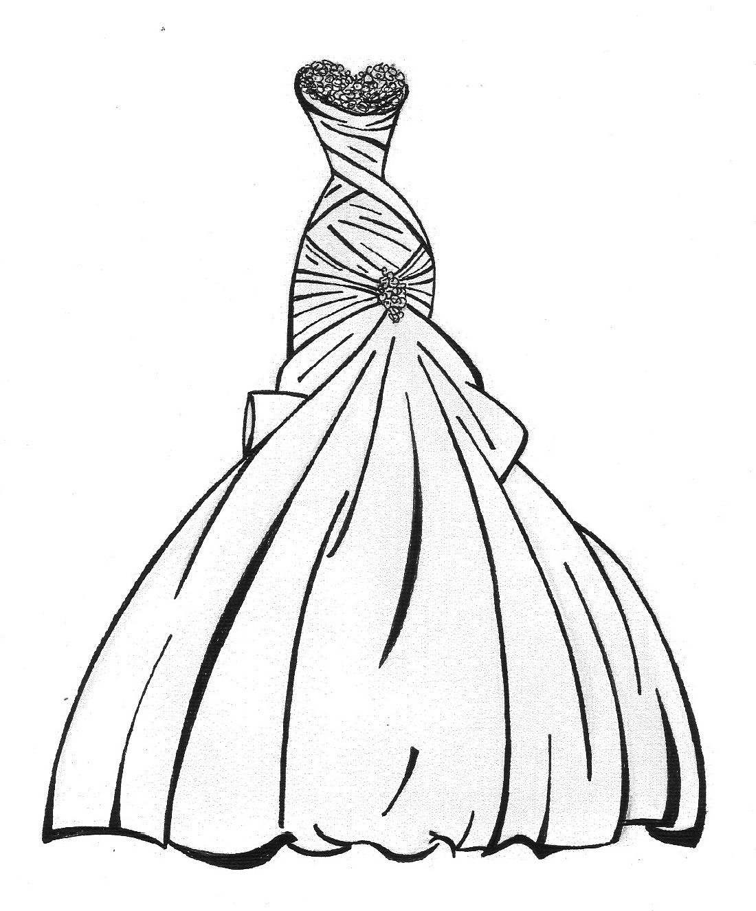 Wedding Dress Coloring Pages 2019 Educative Printable Color Pretty White Dresses Coloring Pages For Girls