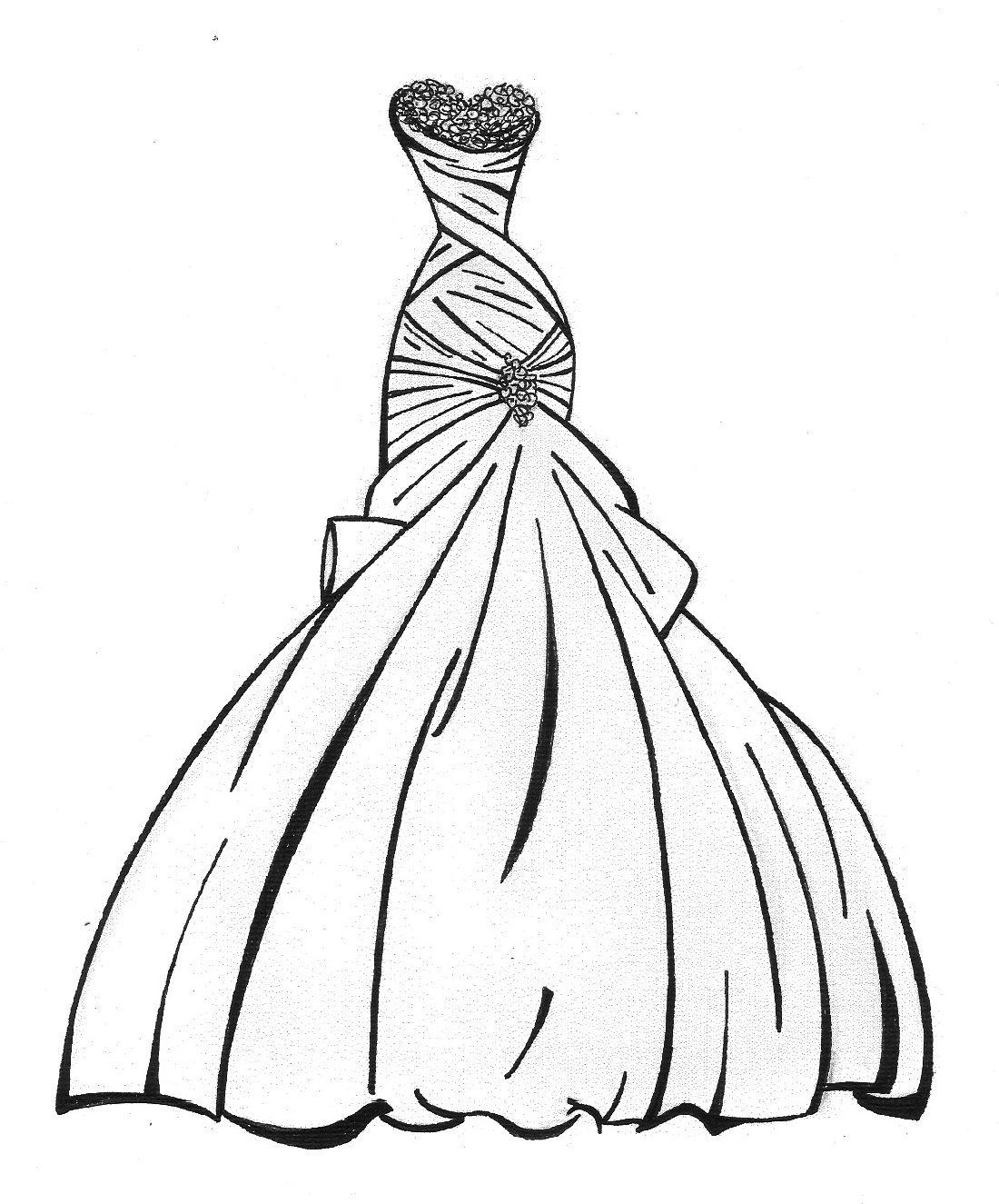Disney Princess Wedding Dresses Coloring Pages Id 23763 Vestidos Dibujo Boceto De Vestido Dibujos Boda