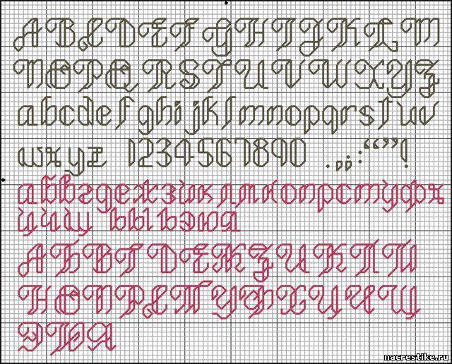 Шрифты вышивка крестом онлайн