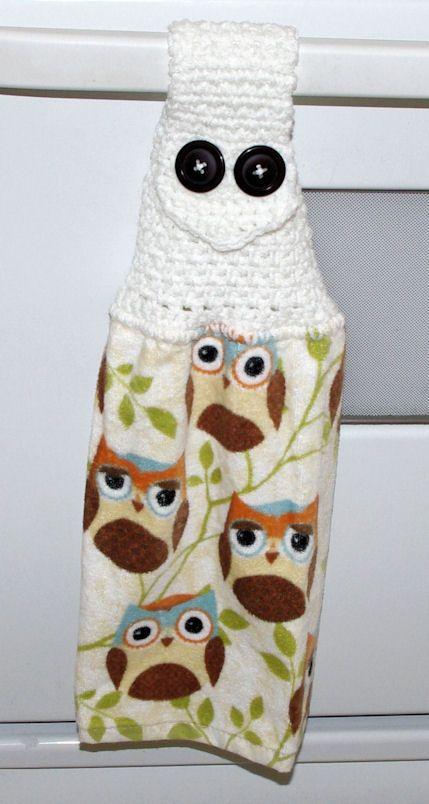 Owl Towel Topper Free Crochet Pattern | crochet kitchen, bath ...