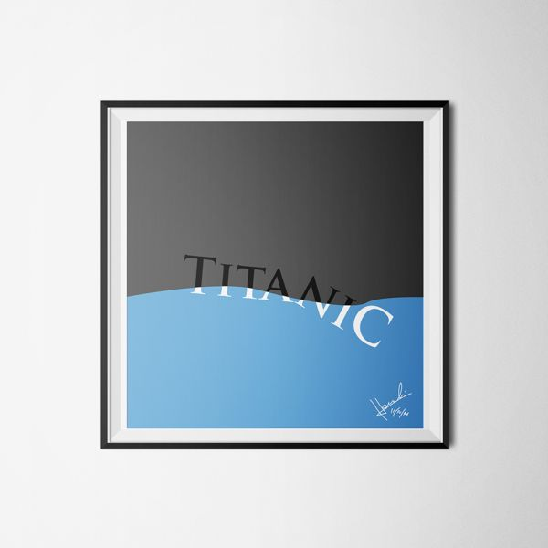 Gestalt Sinking the Titanic by Isaías Jacomeli, via Behance