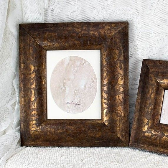 Bronze Brown Photo Frame With Oval Mat By Mackenzieframes On Etsy
