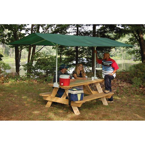 Awnings Canopies Shelters Canopies Portable Table Top Pop Up Quick Clamp Canopy 10 X 7 4 Green Cover 44 Camping Glamping Camping Fun Outdoor Camping