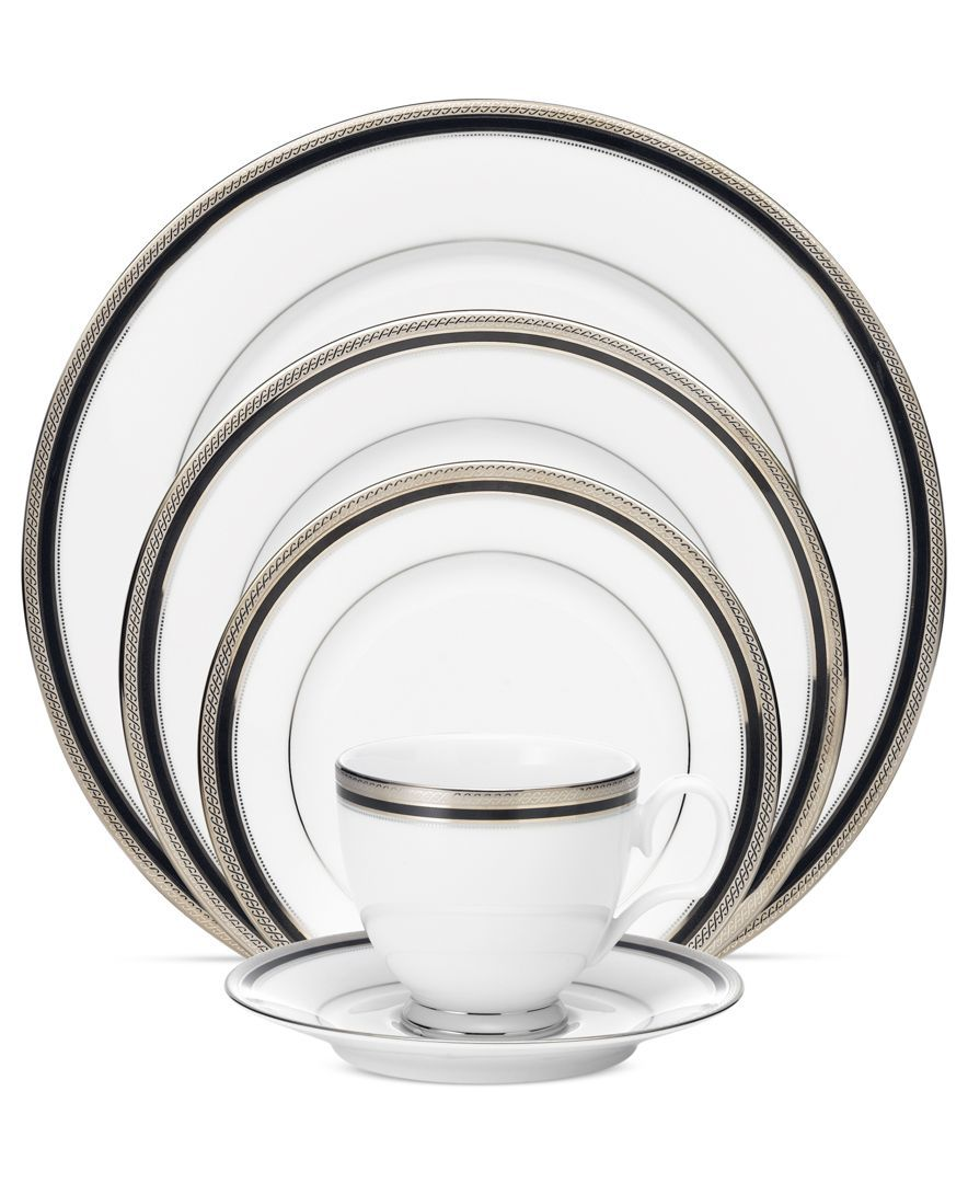 China Kitchen Austin: Dinnerware, Austin Platinum 5 Piece Place Setting