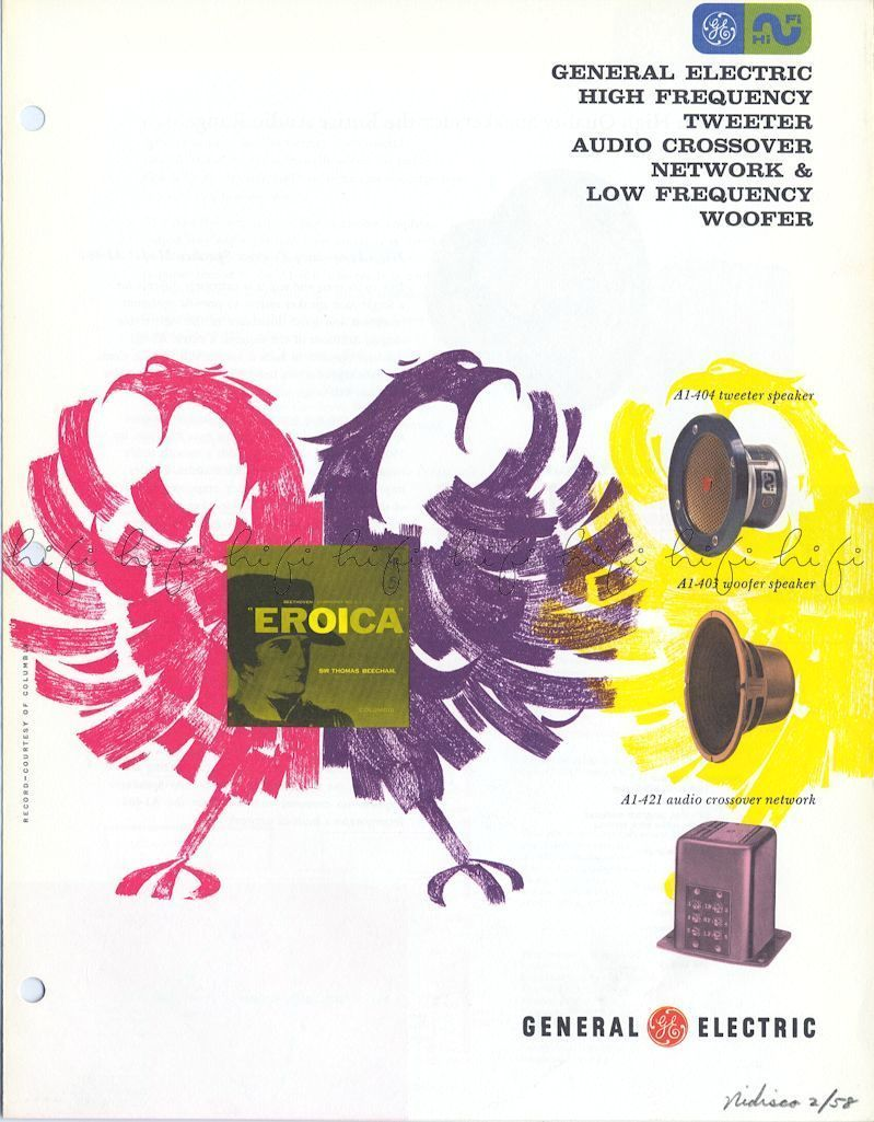 Page 1  General Electric High Frequency Tweeter Audio