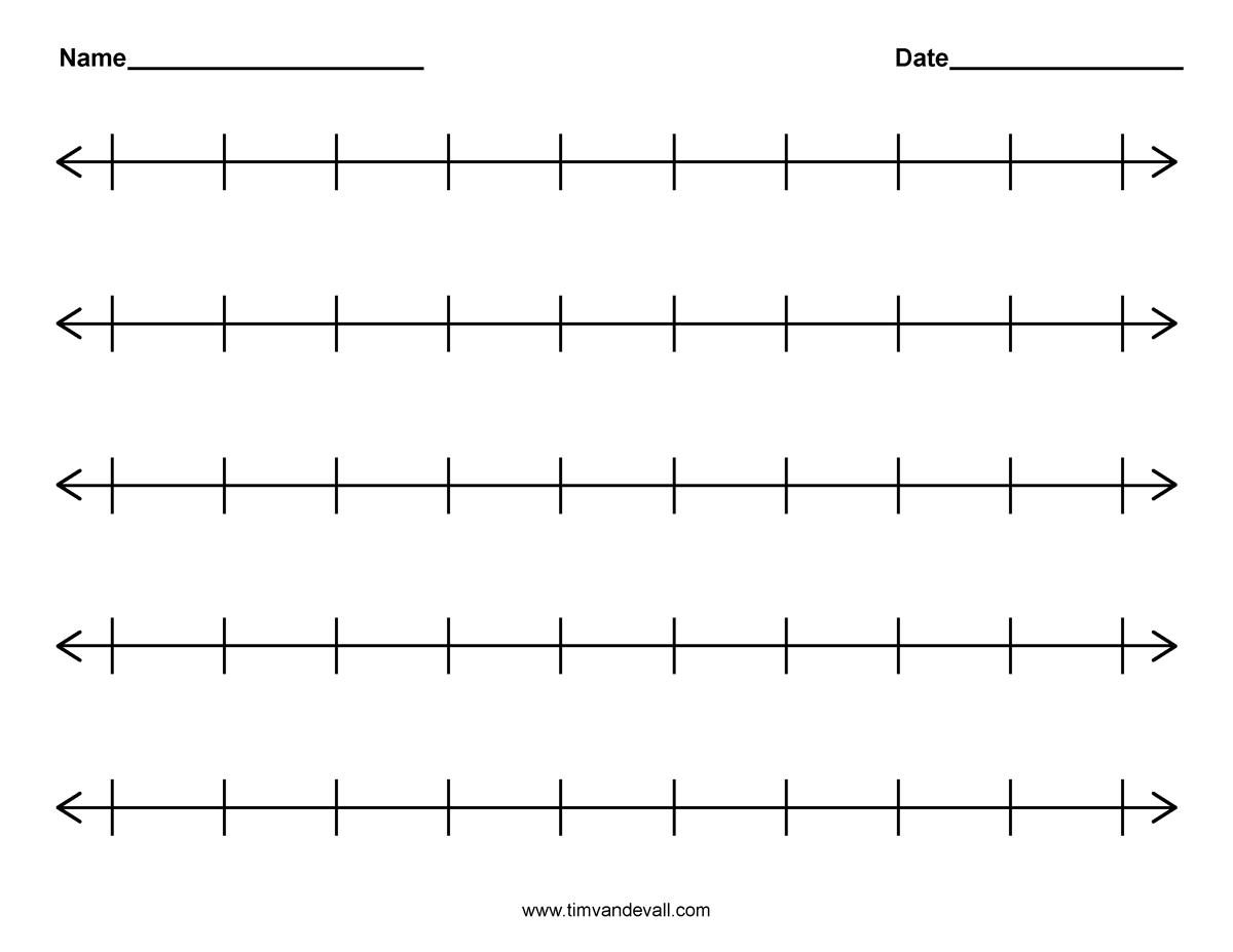 Blank Number Line – Printable Editable Blank Calendar 2017
