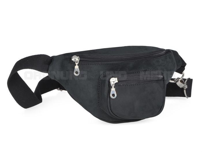 ruitertassen Gürteltasche Leder Bauchtasche Hipbag - LEISURE schwarz oder oliv