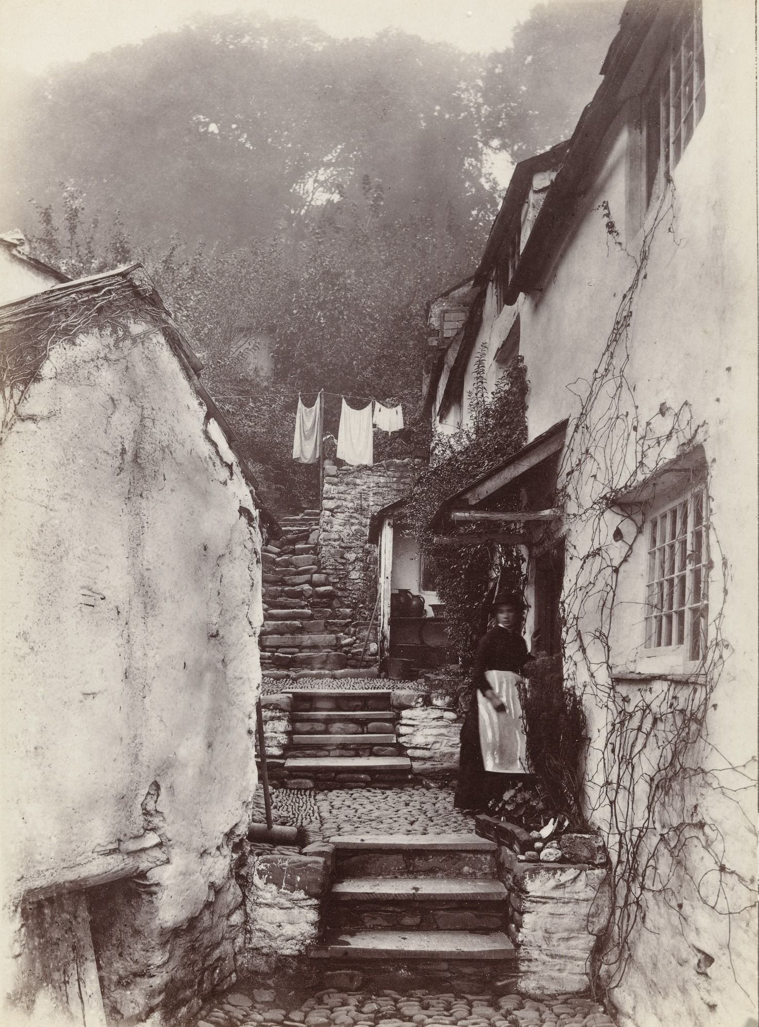 Francis Bedford. Clovelly, North Hill. 185591