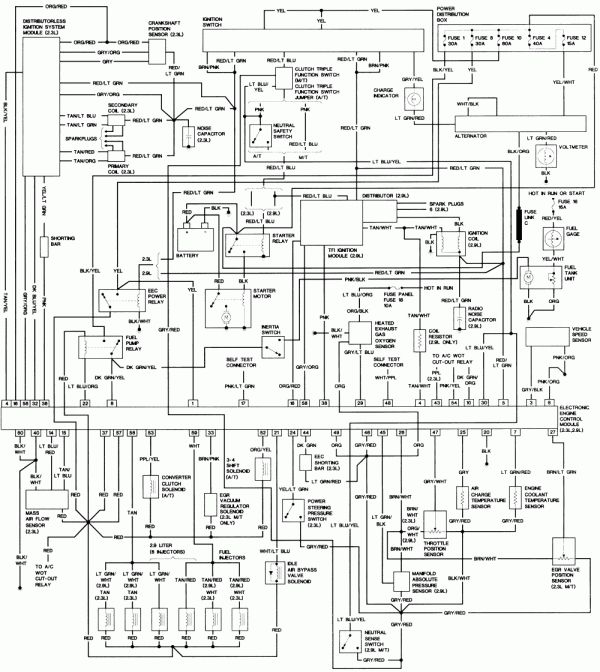 12 94 Ford Ranger Engine Wiring Diagram Engine Diagram Wiringg Net Ford Aerostar Ford Explorer Ford Ranger