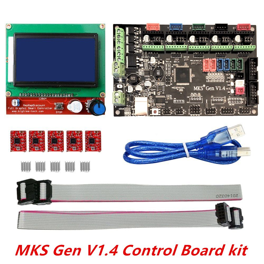 3d Printer Kit Mks Gen V14 With Reprap Board 5pcs Hall Effect Sensor Pic8051avr Usb Programmerdevelopment Boards A4988 Driver 12864 Graphic Lcd