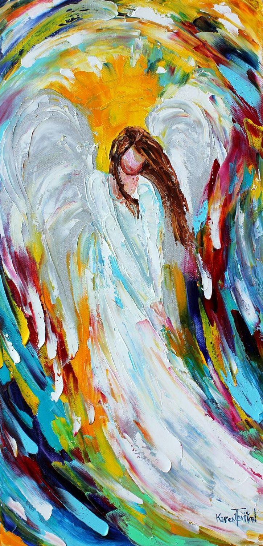 Angel paining by karen tarlton angel painting angel art
