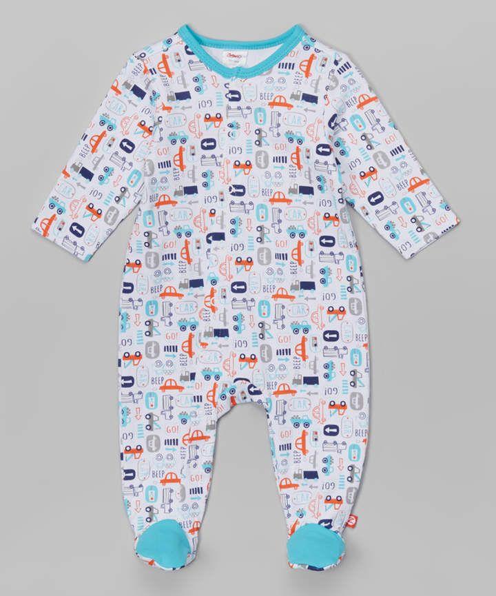 e99212456 Zutano White Beep Beep Footie - Infant