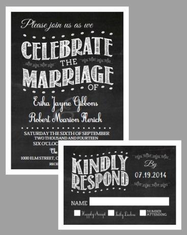Chalkboard Vintage Invitation Suite - Free Printable | Vintage ...
