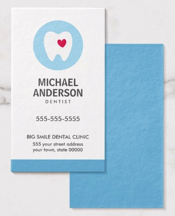 Dentist or dental clinic / assistant modern business card