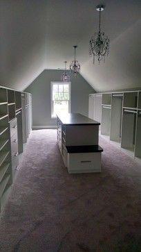 Closets With Sloped Ceilings Craftsman Closet Atlanta By Artisan Custom Closets Closet Remodel Custom Closets Attic Rooms
