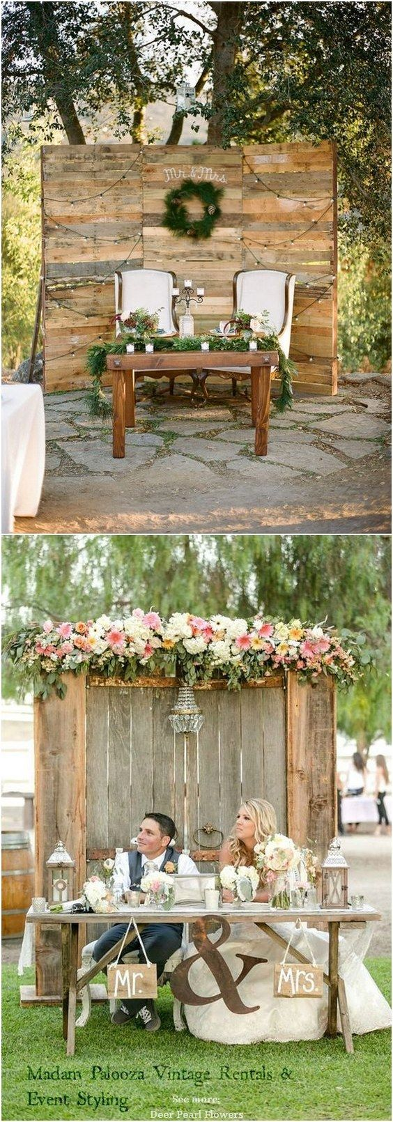 wedding ideas rustic country top 20 rustic country wedding sweetheart table ideas 28298