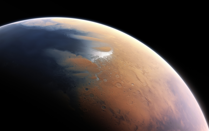 Download Wallpapers Martian Surface 4k Planet Mars Galaxy Sci Fi Universe Besthqwallpapers Com Planets Comets And Asteroids Mars Planet