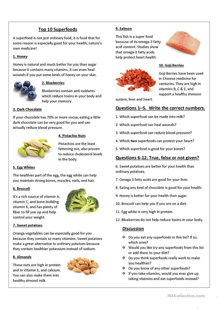 Top 10 Superfoods Superfoods Top 10 Superfoods Cooking Lessons