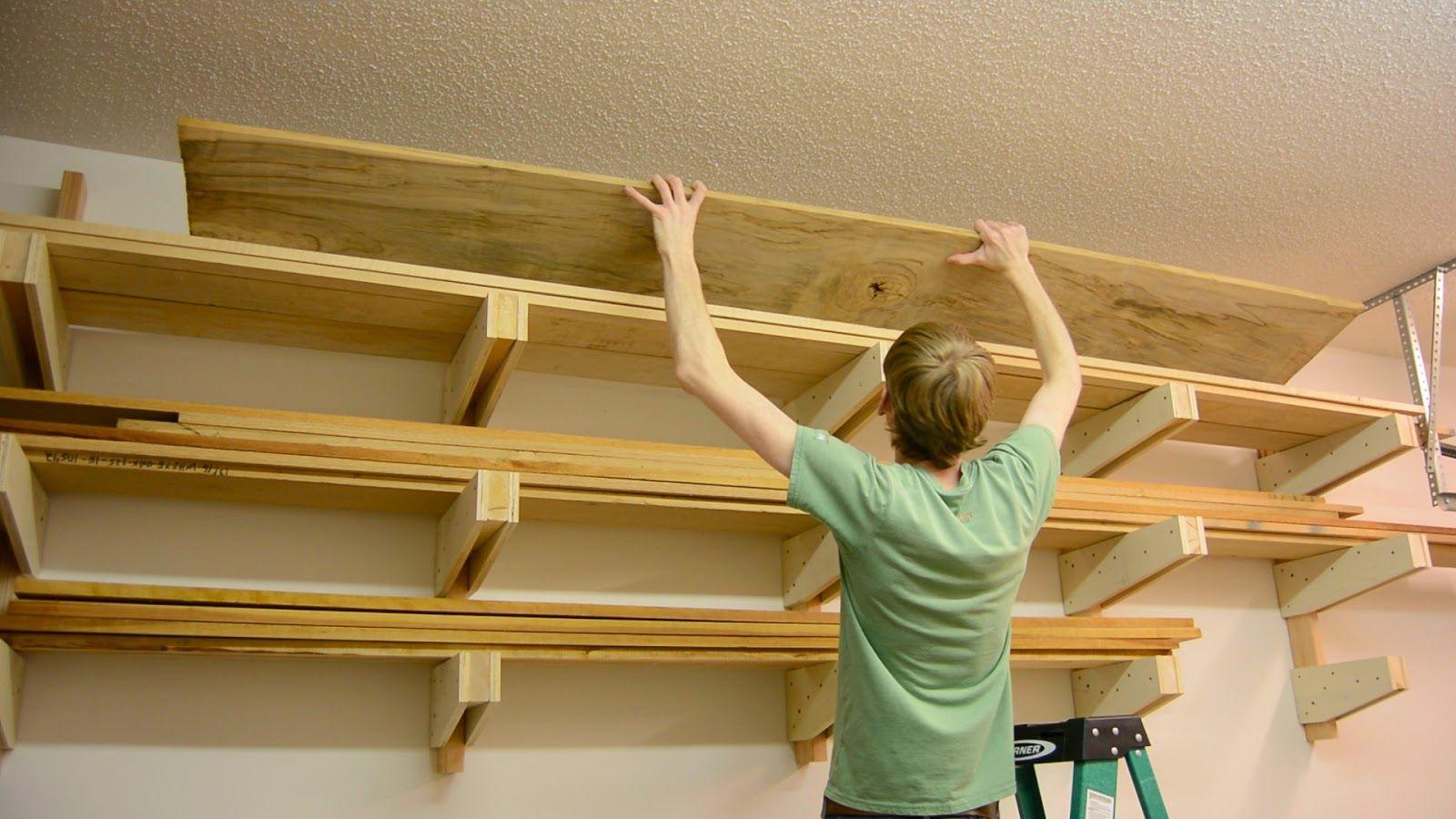 Ana White | DIY Wall Mounted Lumber Rack - Featuring Lane Bros ...