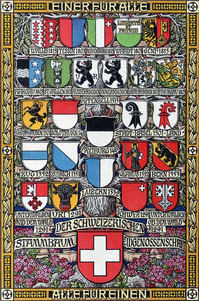 Fahne Und Wappen Des Kantons Graubunden Wikiwand Swiss Cantons Swiss Flag Switzerland Cantons