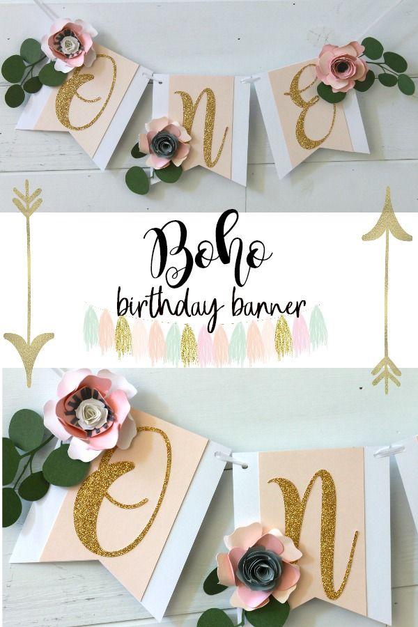 boho birthday boho one banner paper flower banner woodland birthday spring birthday spring first birthday boho high chair bannerboho pinterest