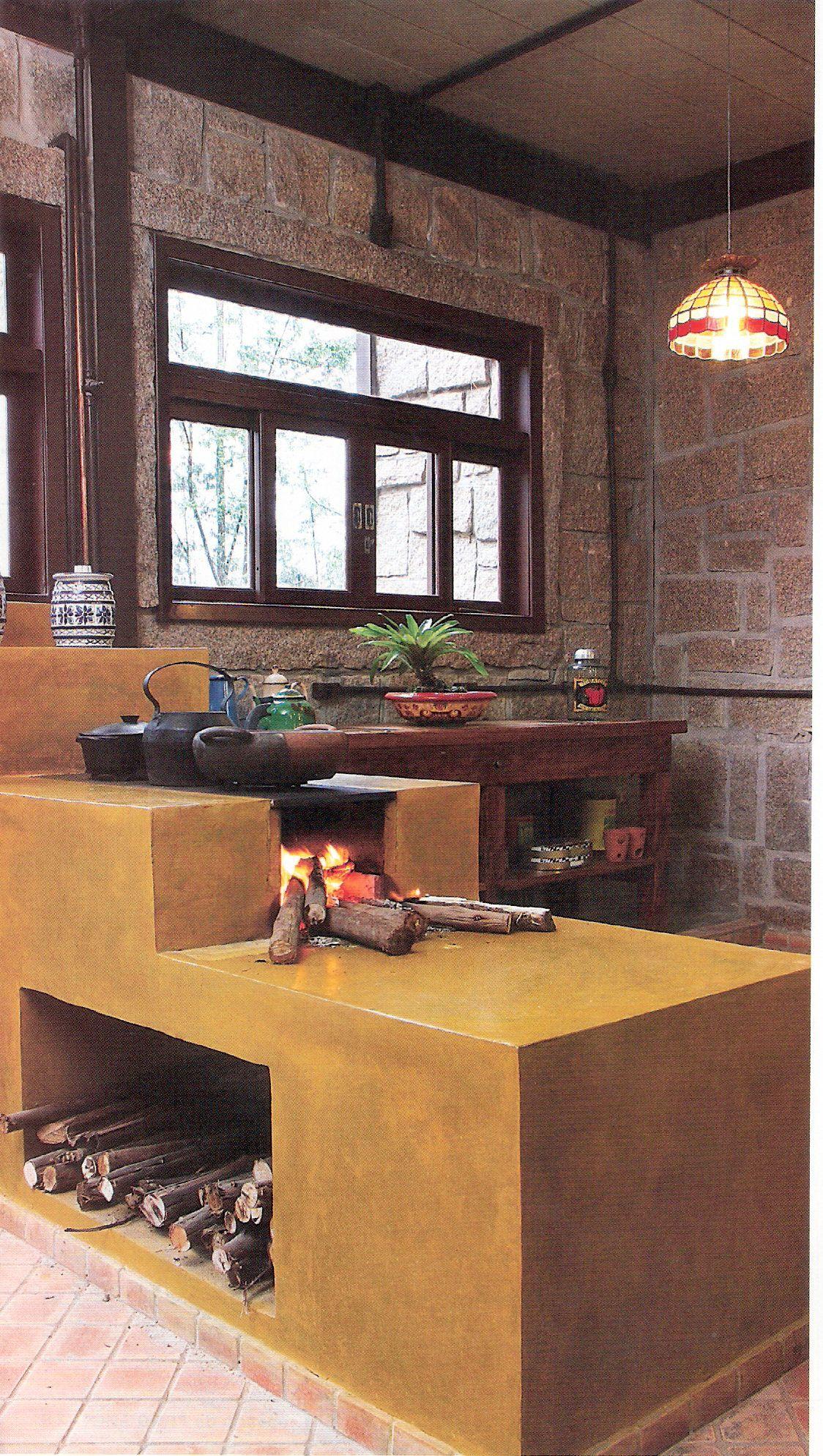 Janela p colocar no s tio s tio fog o a lenha cozinha for Modelos de hogares a lena rusticos